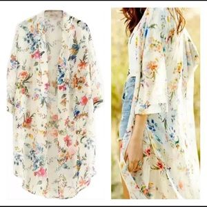 Sheer Floral Cover-Up